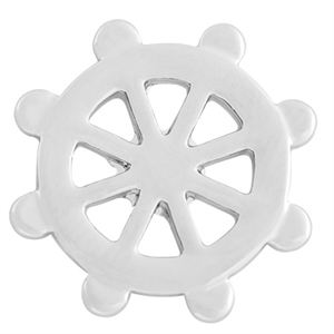 Picture of Medium Silver Nautical Wheel Screen